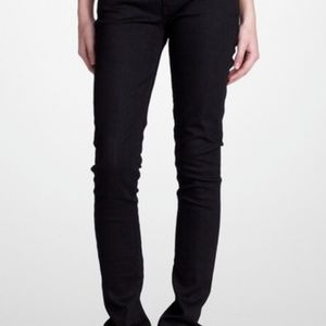 Tory Burch Super Skinny Black Jeans Womens 25